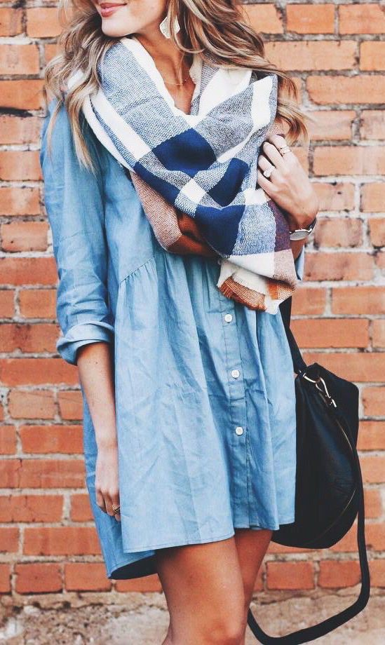 Find out these trending denim shirt dress, Denim skirt