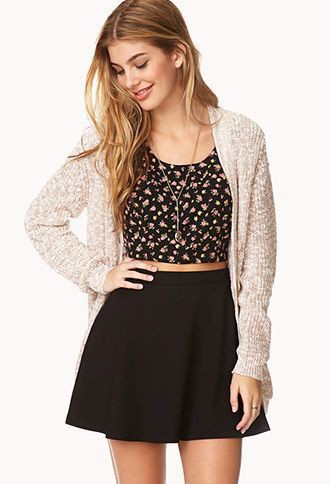 Casual black skirt and top