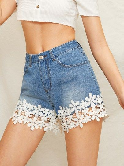 Outfits With Twinset Denim Shorts