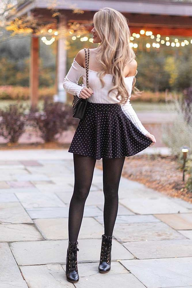 Cute Skirt Outfits For College, Crop Top