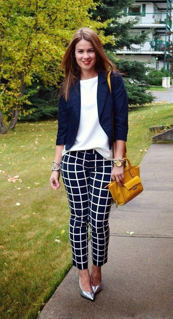Office Outfit Ideas For Women, Polka dot
