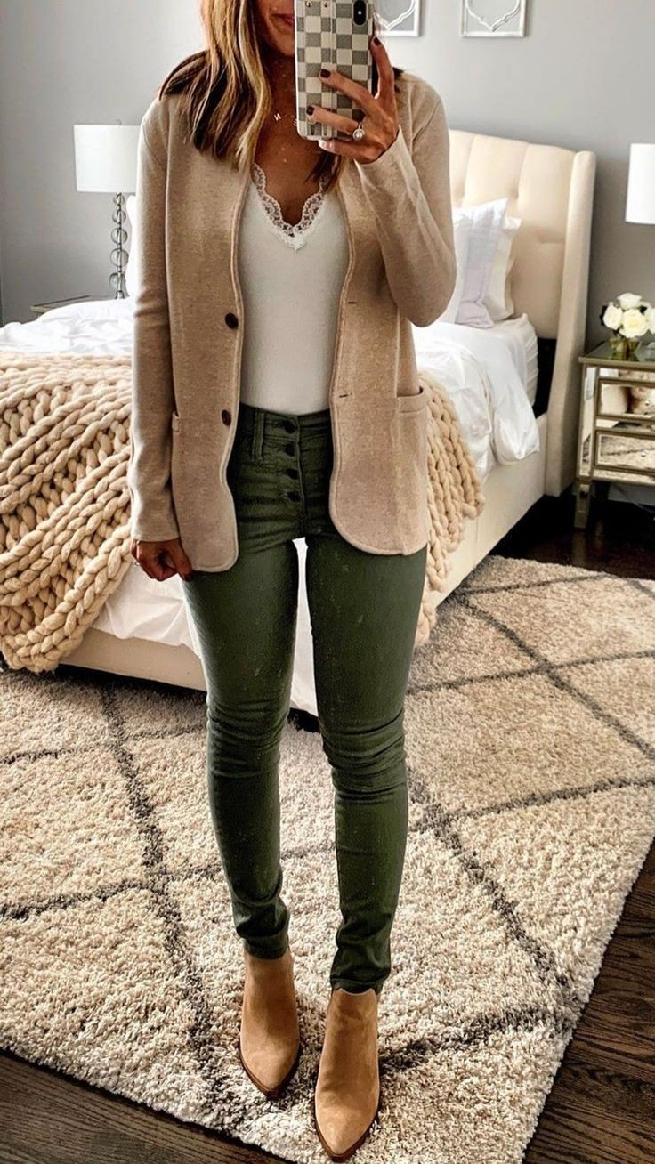 Sweater blazer work outfit, Casual wear