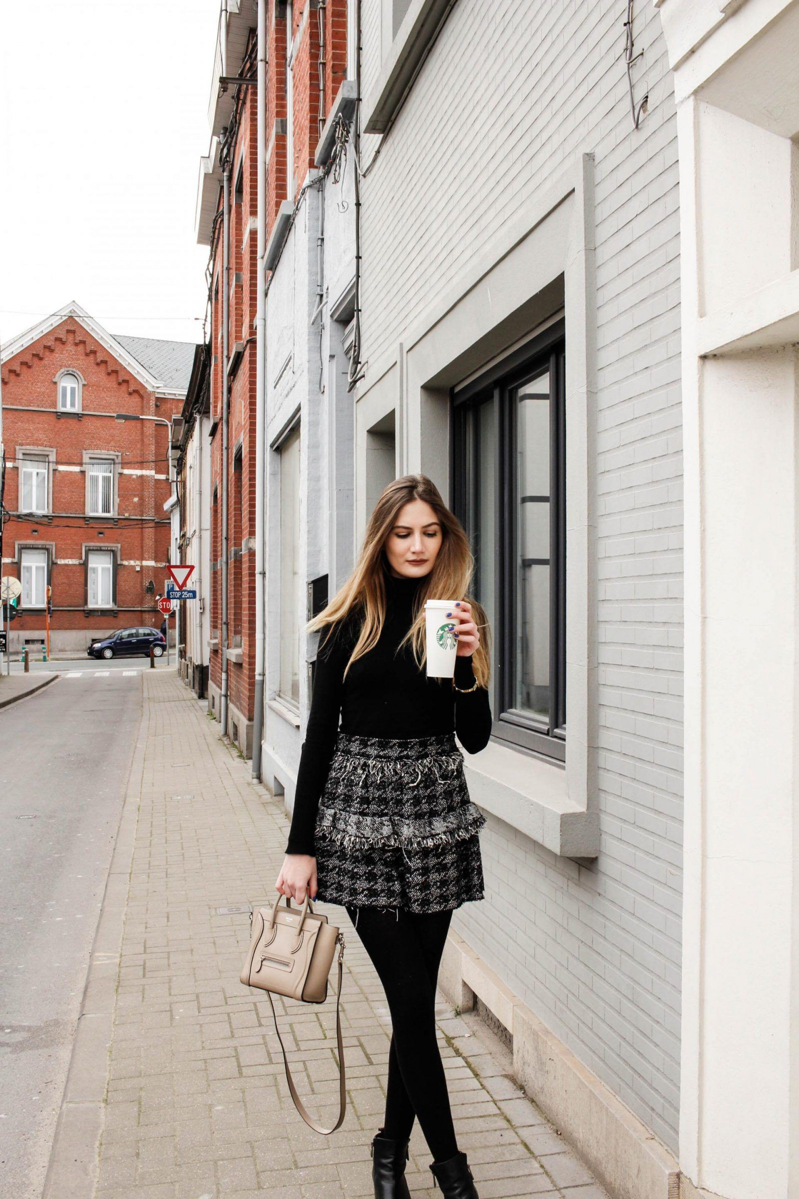 Trendy Tweed Wrap Skirts