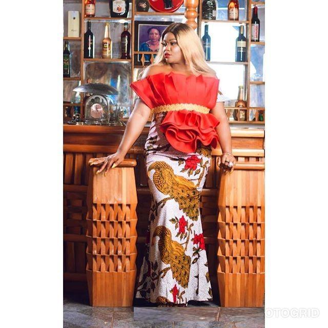 Stylish Ankara Gown Styles, Ankara Skirt & Blouse, African wax prints