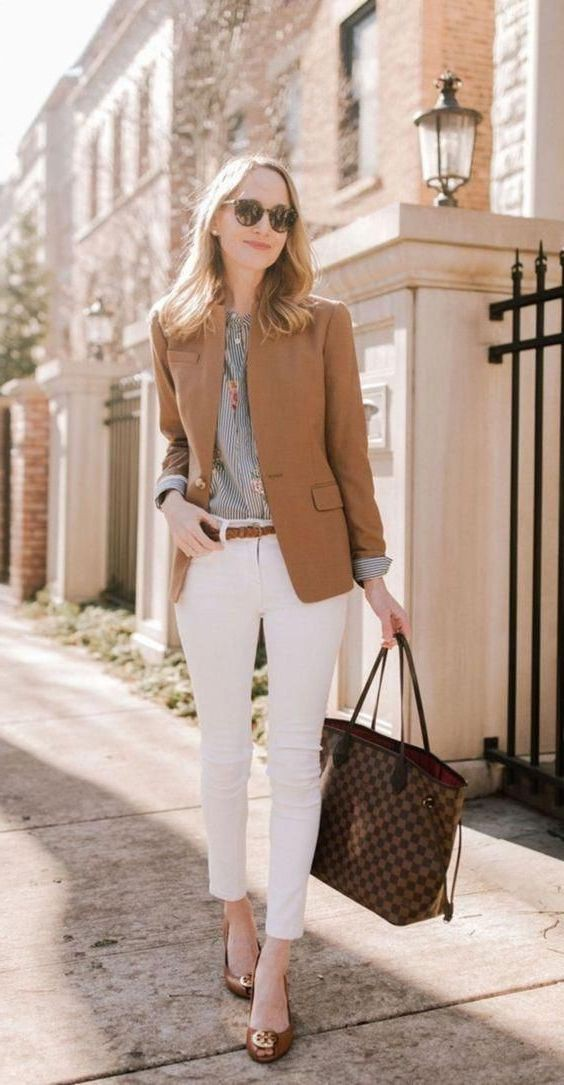 Casual wear Slim-fit pantsOffice Outfit Ideas For Women,