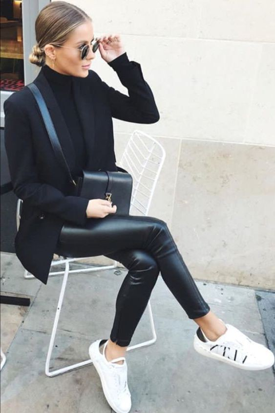 Leather Pant Outfits For Women, Betty and Biddy, FASHION SNEAKERS