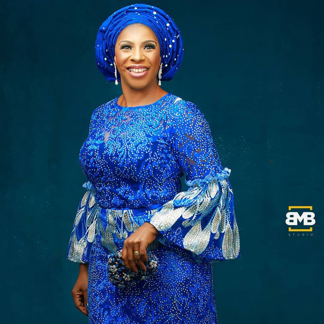 Latest Blue Kaba And Slits Styles, Aso ebi