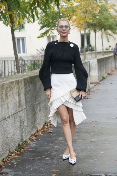 Winter Outfits With White Skirt