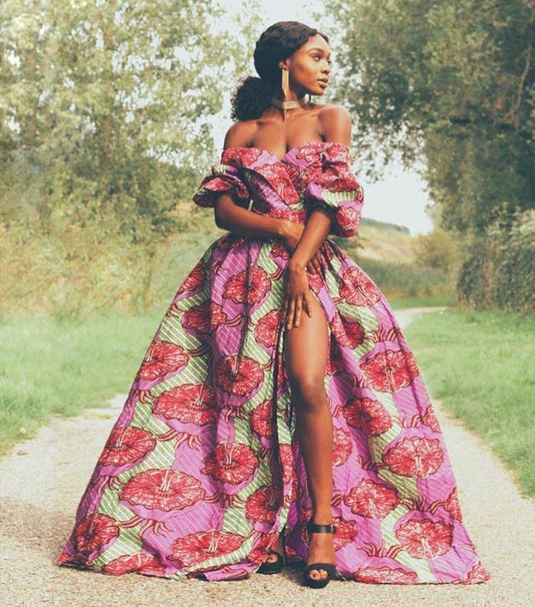 African wax prints, Ball gown