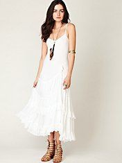 Ivory lace maxi dress with sleeves