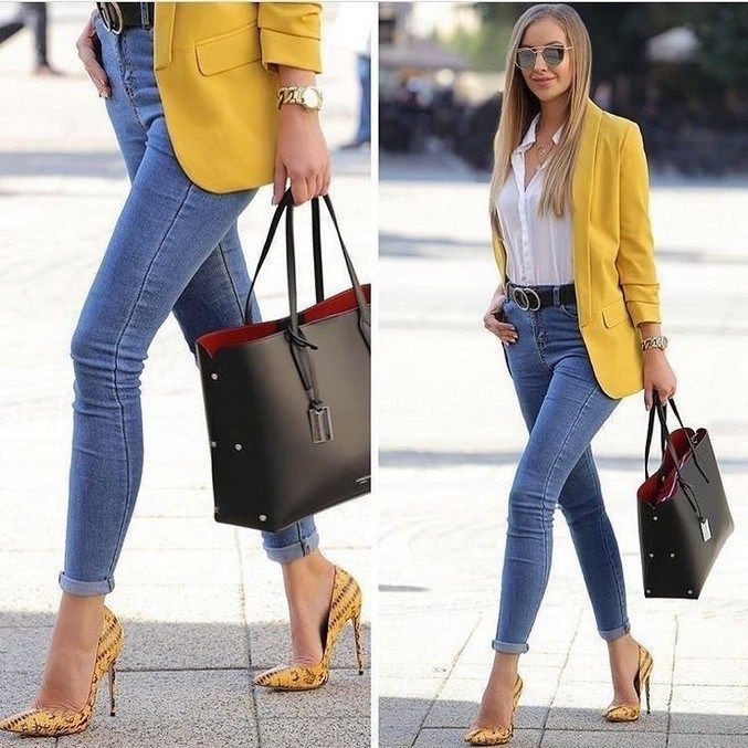 Skinny jeans combination woman outfit