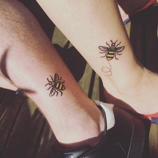 Cute bee tattoo ideas, temporary tattoo
