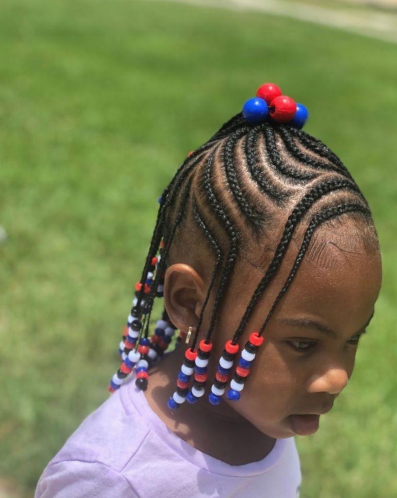 Braid hairlstyels for children, Box braids