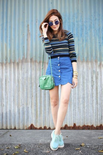 Great looking scalloped skirt outfit, Casual wear