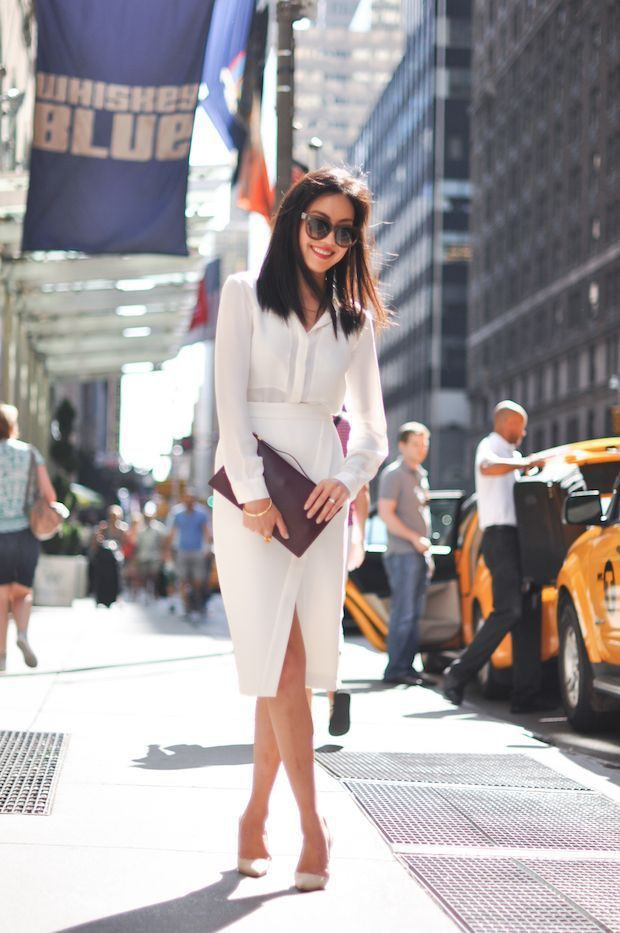 Office look street fashion, Informal wear
