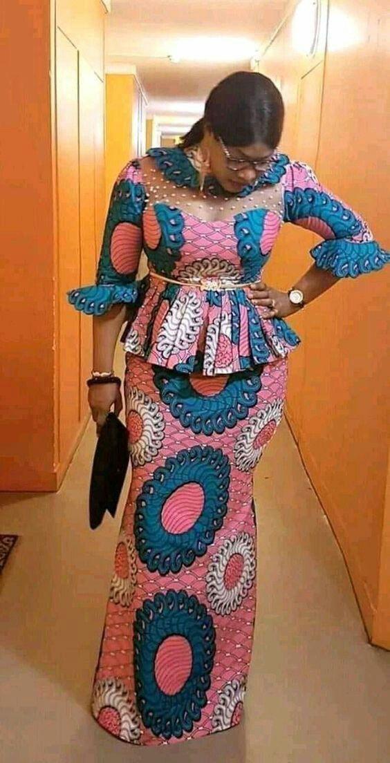 Wedding ankara skirt and blouse style