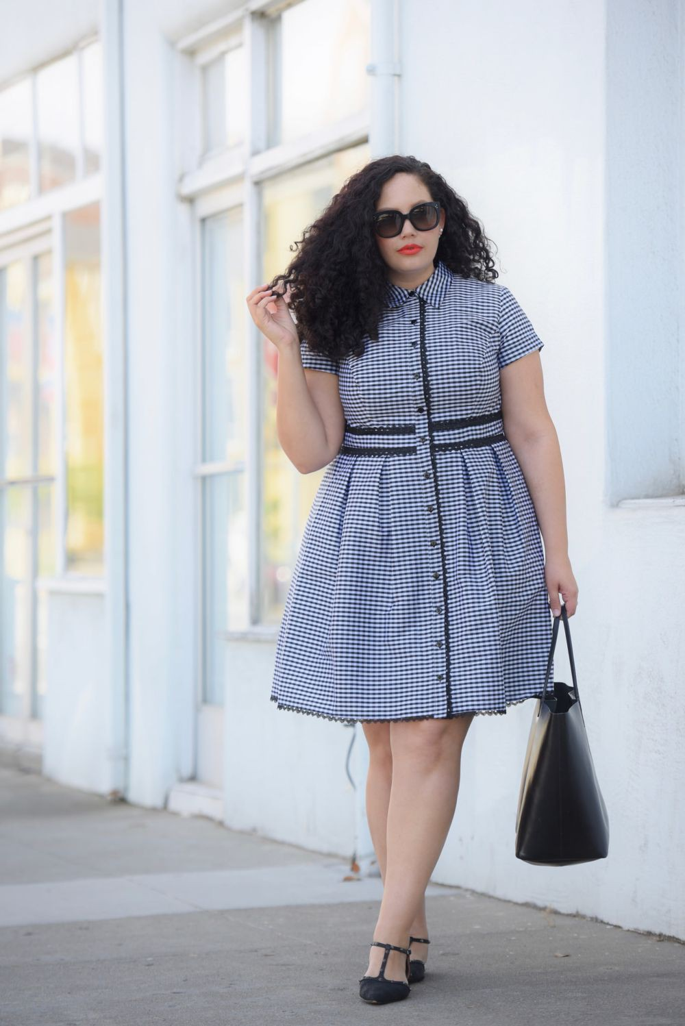 Plus Size Workwear Outfits, Dress with lace, Tanesha Awasthi