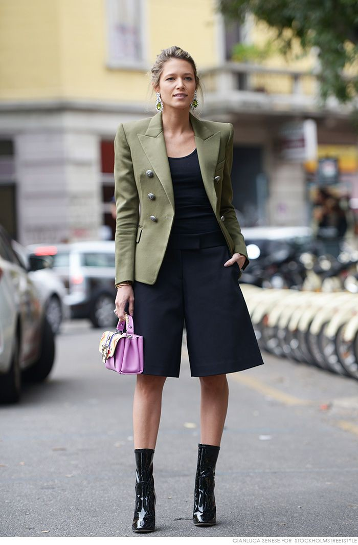 What to wear tendencia ombreira, Three quarter pants