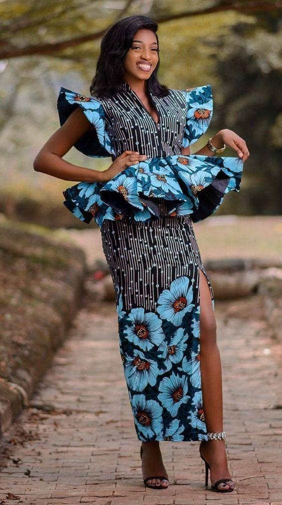 Model robe wax 2019 senegalaise, Aso ebi
