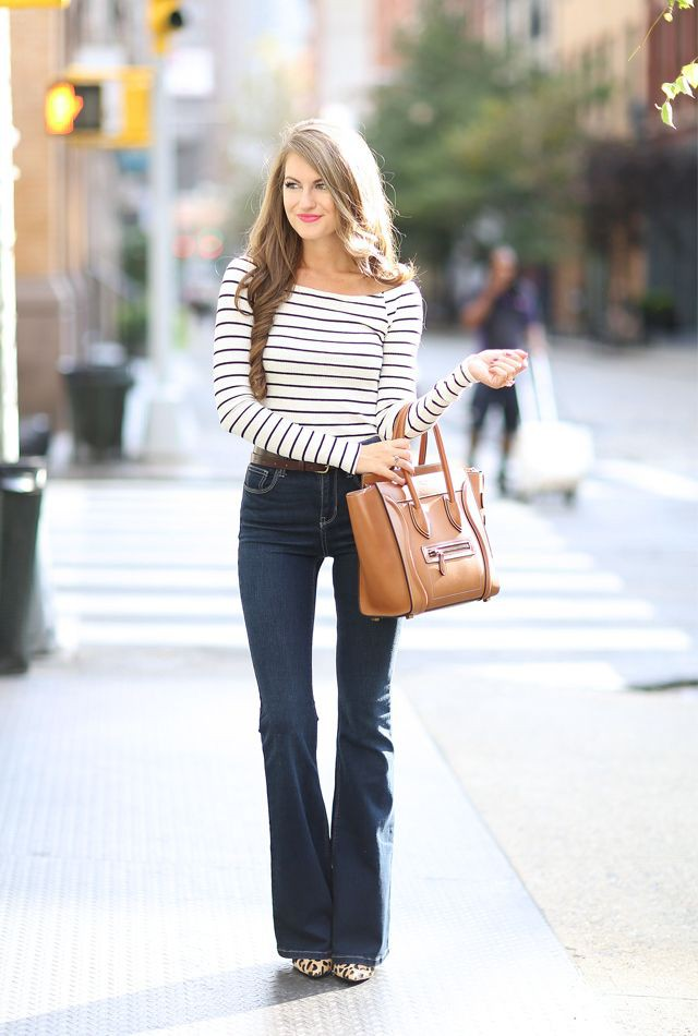 Southern curls and pearls flare jeans