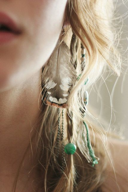 Find and get bohemian feather earrings, Earrings Feather