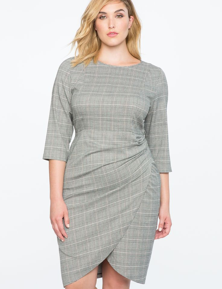 Appealing designs for eloquii plaid dress, Plus-size clothing