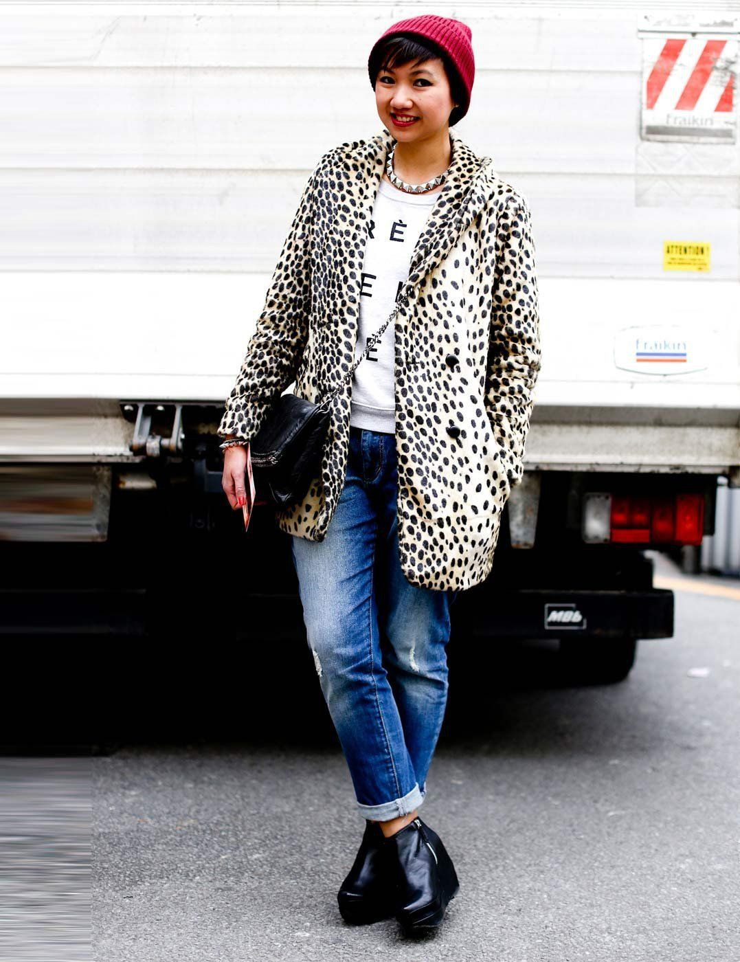Outfits With Leopard Print Jackets, Polka dot, Street fashion