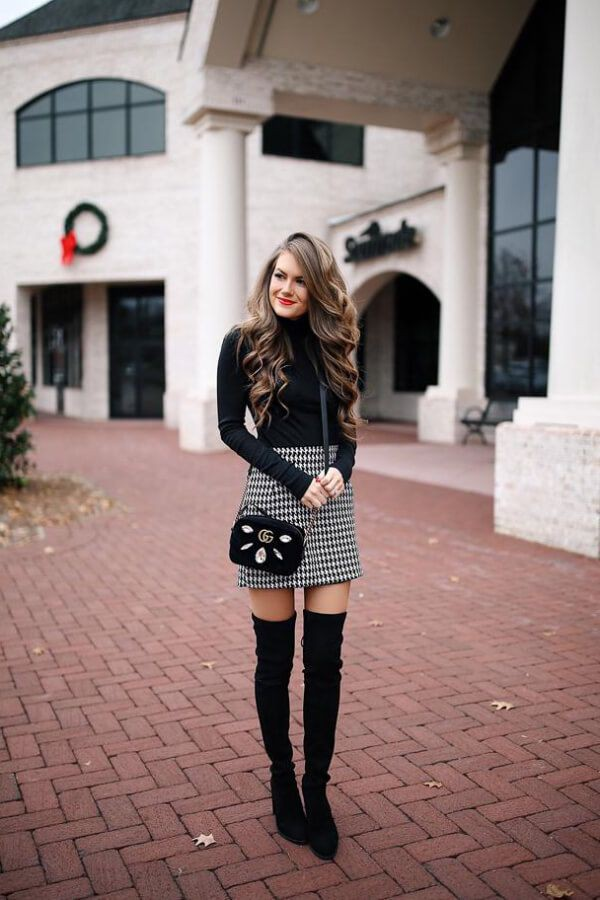 Classy fabulous fashionable winter skirt outfit, Winter clothing