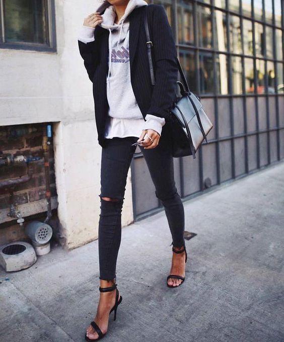Winter Casual Blazer Outfits Female, Casual wear, Street fashion