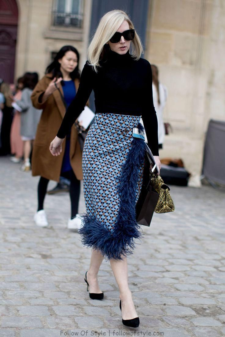 Paris street style skirt, Street fashion