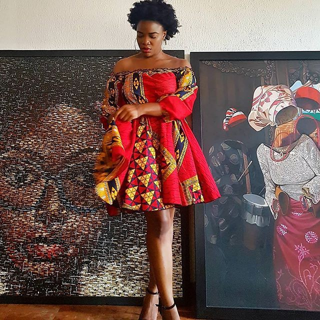 One of the most admired fashion model, African wax prints