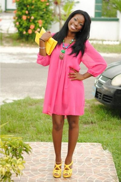 Pink and yellow outfit, Vestido Soltinho