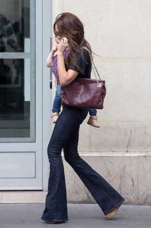 Outfits With Bootcut Jeans, Little black dress, Tote bag