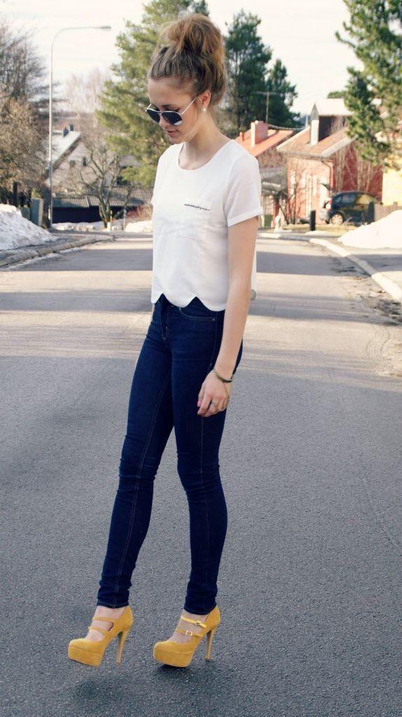 Delicate & stylish platform pumps outfits, Platform shoe