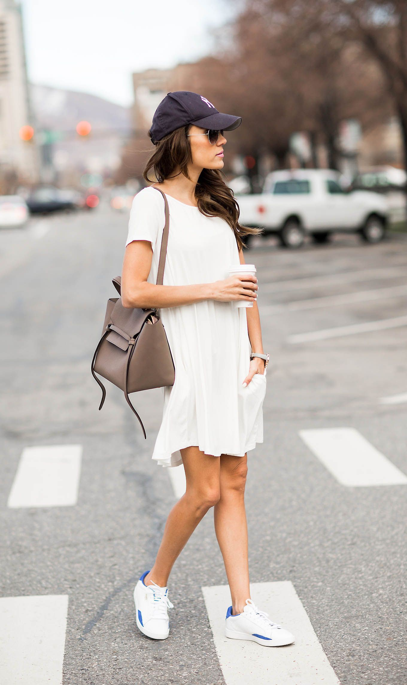 Dress and sneakers night style