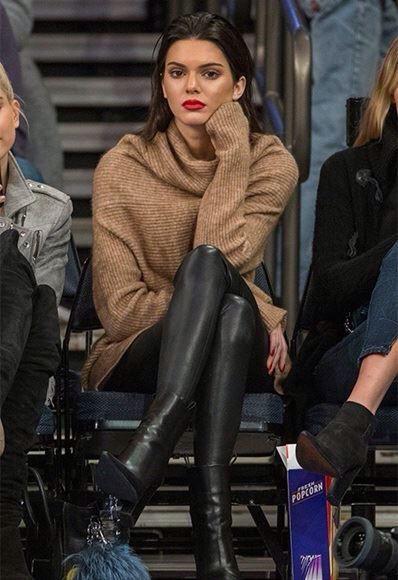Kendall jenner leather leggings