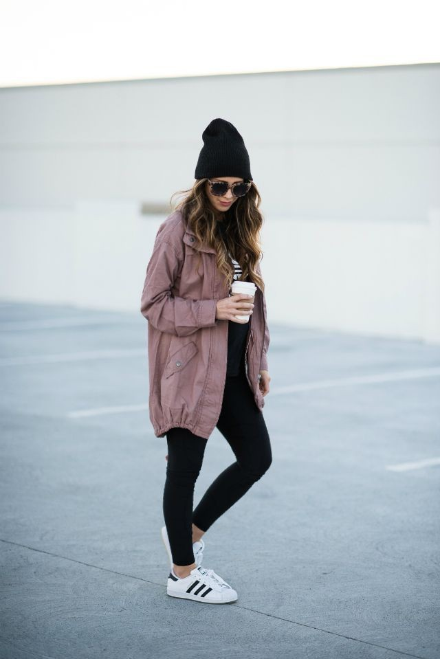 Pink utility jacket outfit, Casual wear