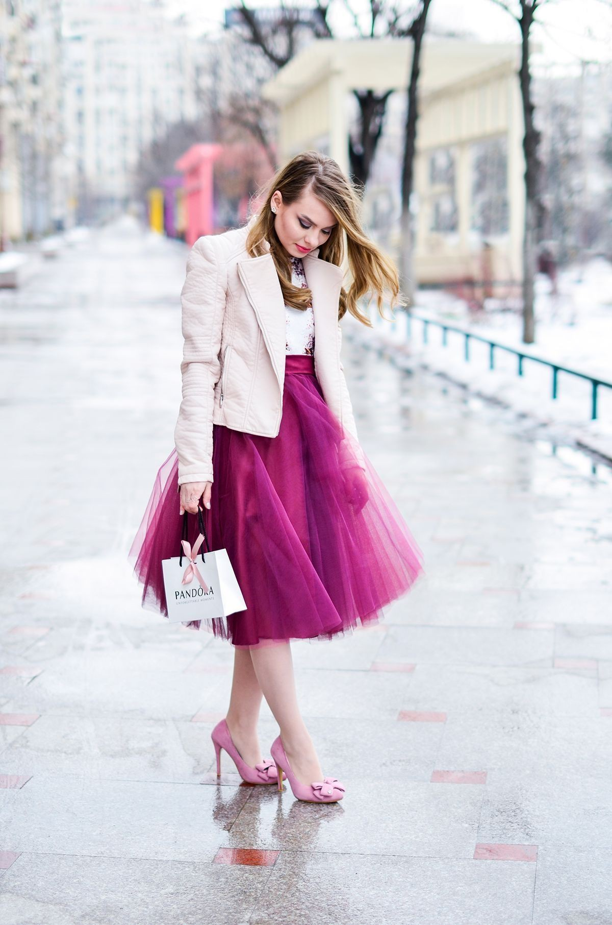 Beautiful and elegant tulle outfit, Crop top