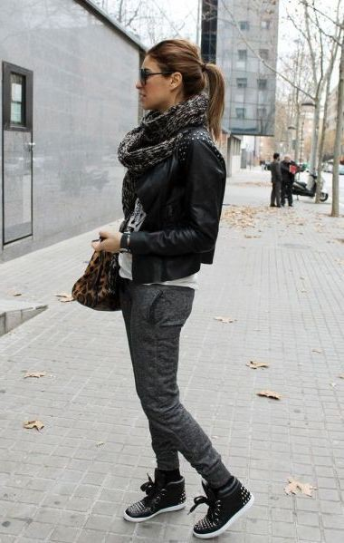 Black leather high tops womens