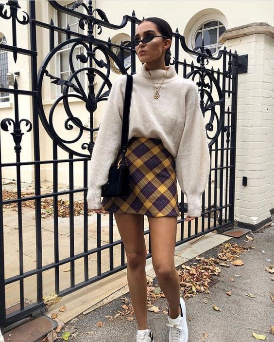 Outfits with plaid skirts, Casual wear