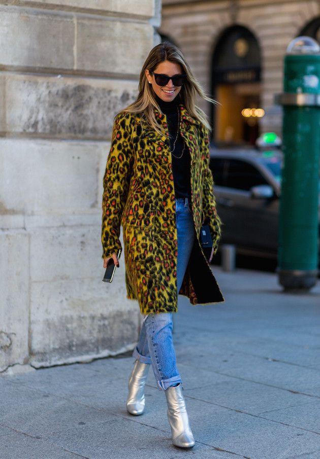 Outfits With Leopard Print Jackets, FAUXFURCOA/ECRU/M, Street fashion