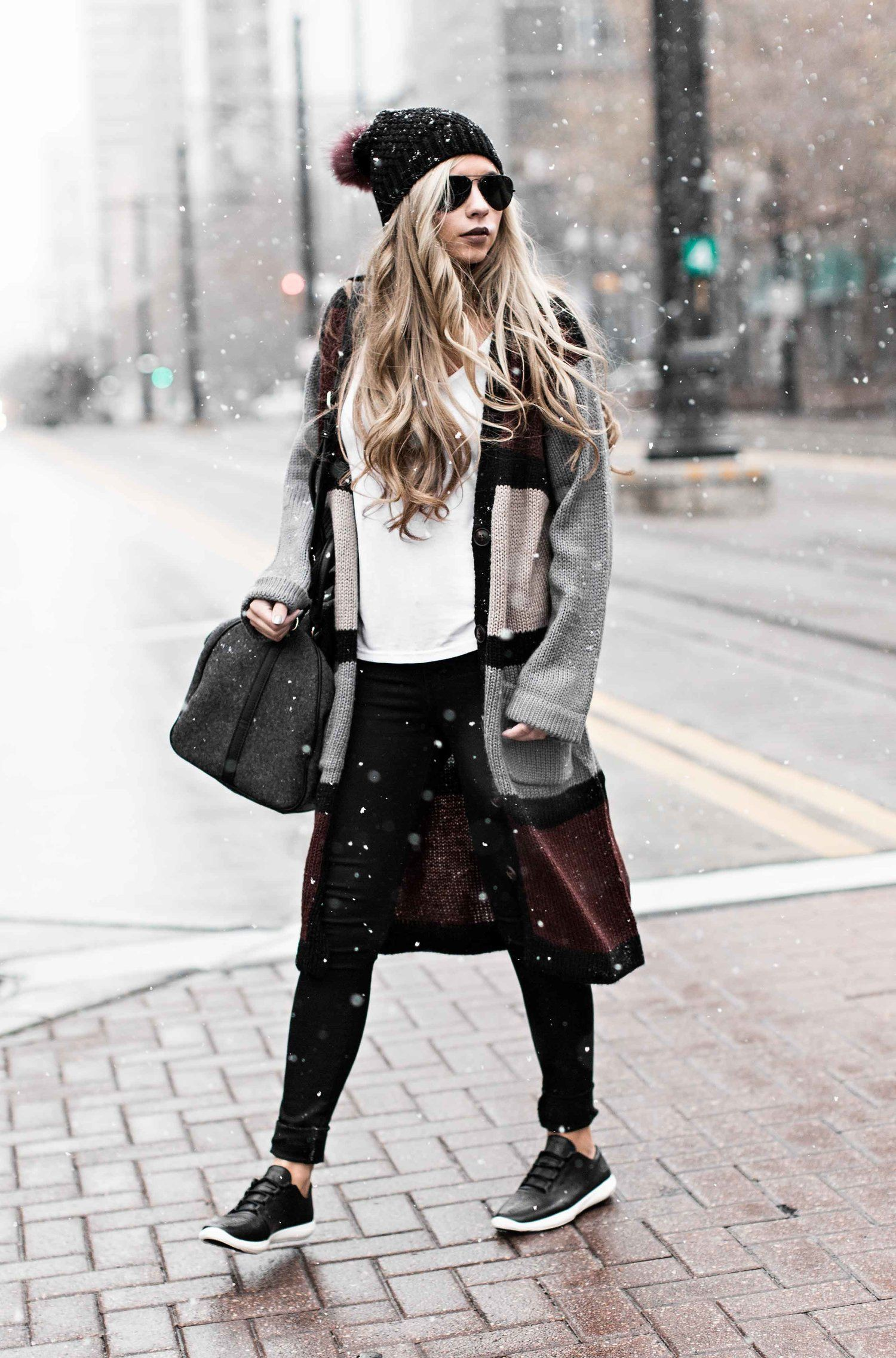 Outfits To Wear With Sneakers, Winter clothing