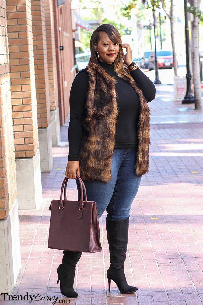 Style a fur vest plus size