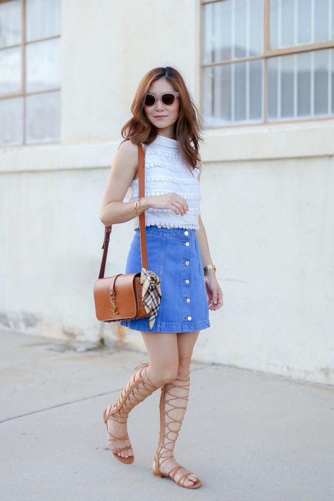Love it. It's mine fashion model, Denim skirt