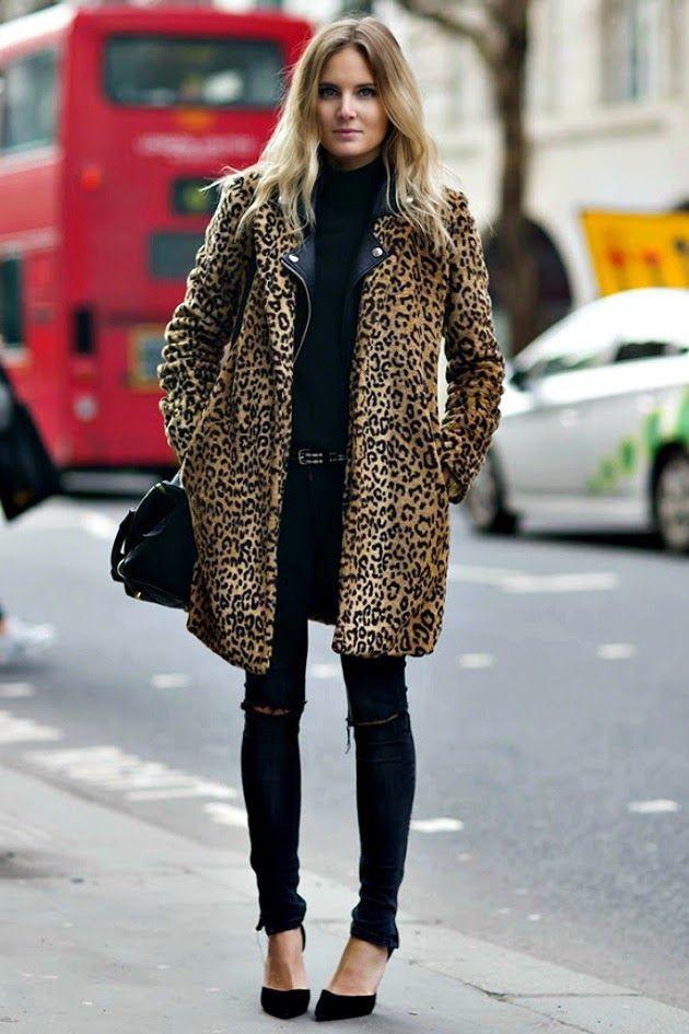 Closet Leopard print coat outfit, Animal print