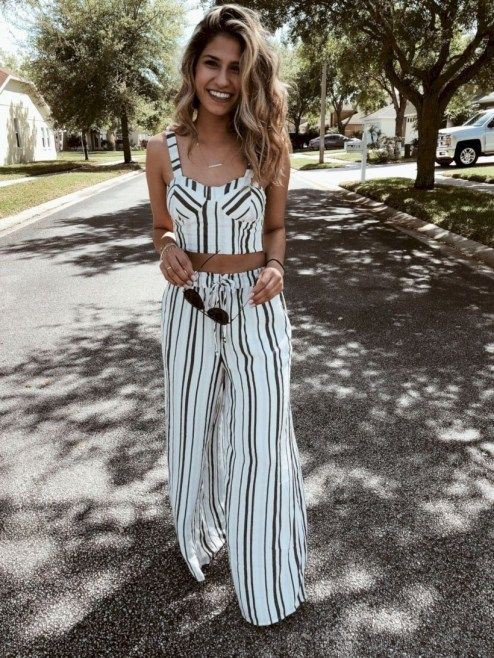 Jumpsuit Outfit Ideas For Ladies, Casual wear, Crop top