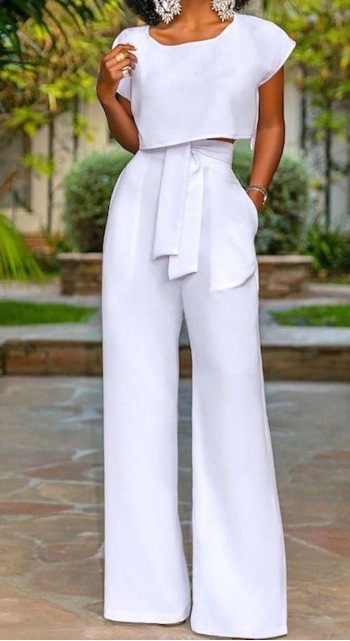 Pantalones palazos de moda, Crop top