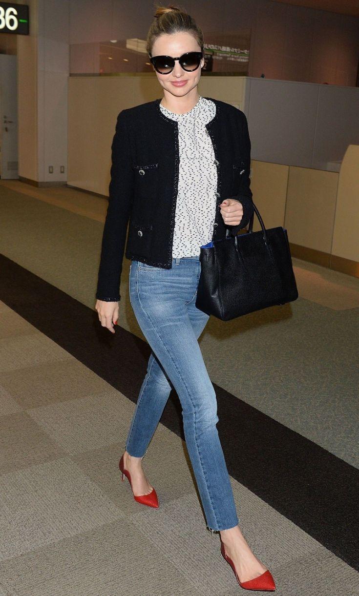 Black tweed jacket outfit, Slim-fit pants