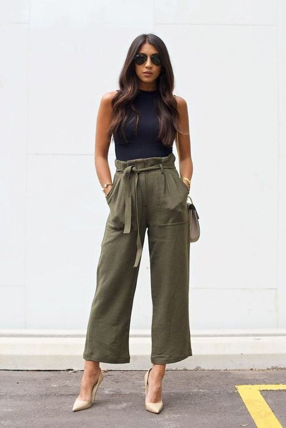 Dashing style for culottes outfit, Three quarter pants