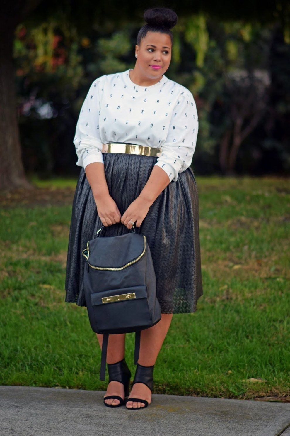 Nice to wear eloquii leather skirt, Patent Leather Skirt